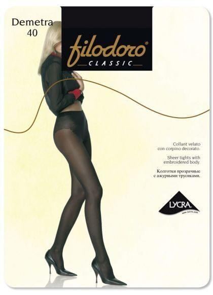Колготки Filodoro Demetra размер 3 плотность 20 Den Nero